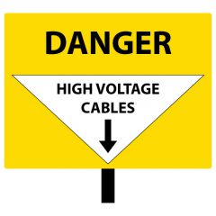 Danger High Voltage Cables