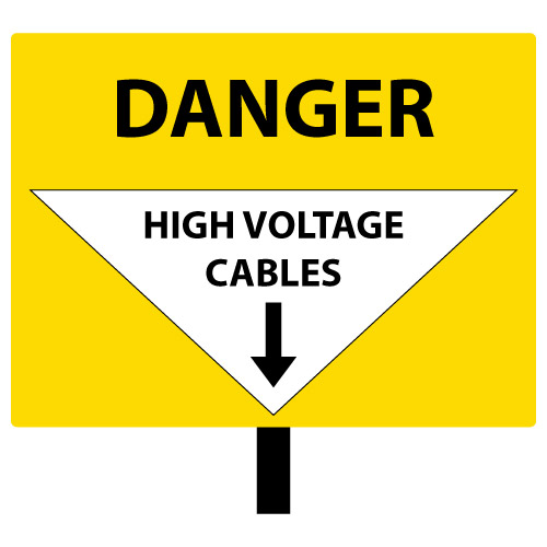 Danger High Voltage Cables
